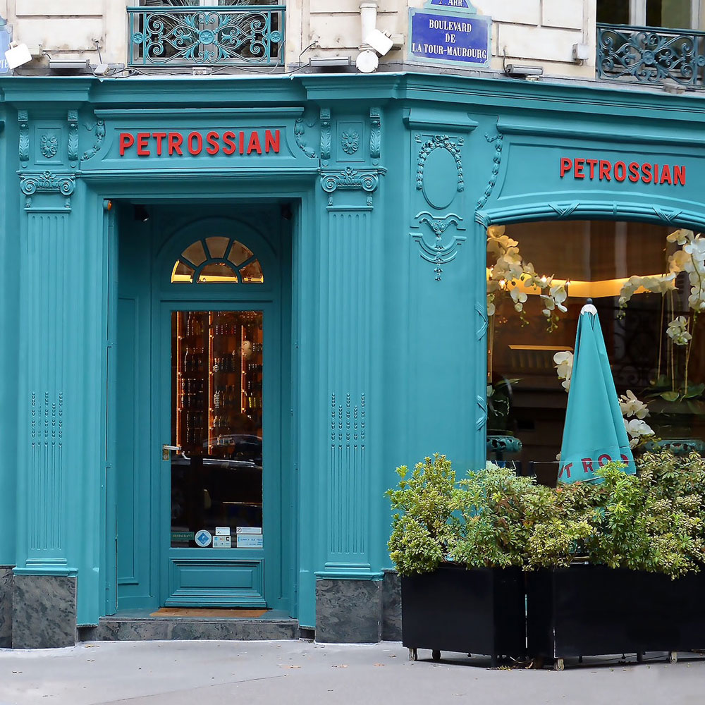 Petrossian Left Bank Boutique: the historic boutique, right by Invalides