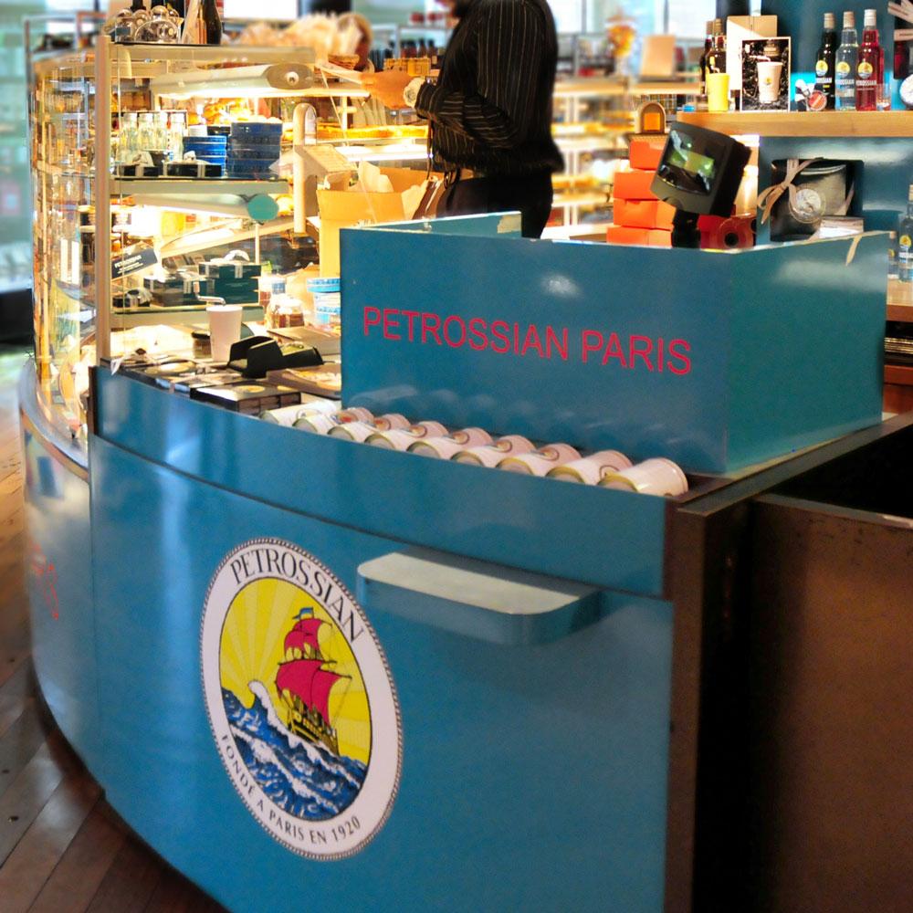 Petrossian Publicis Drugstore Corner on the Champs Elysées