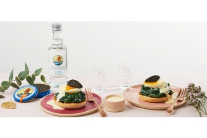 Eggs Florentine with Ossetra caviar