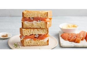 Le Club Sandwich Saumon very chic d'Alexia Duchêne