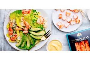 King crab and avocado salad