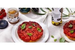 Tarte Tatin aux tomates cerises et à la truffe