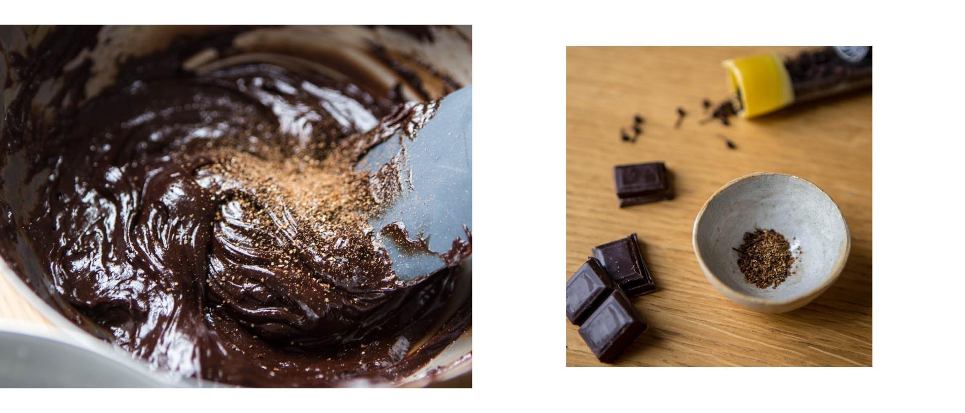 Mousse al cioccolato aromatizzata al pepe