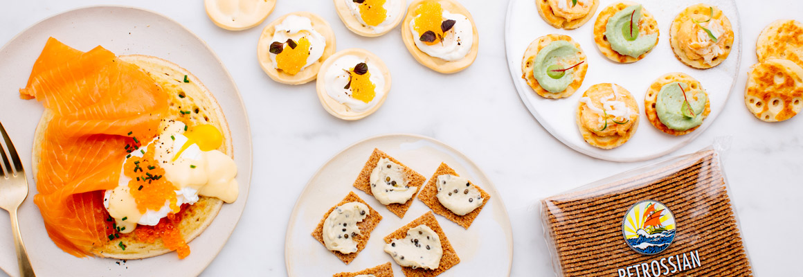 Blinis toppings caviar salmon buy online uk