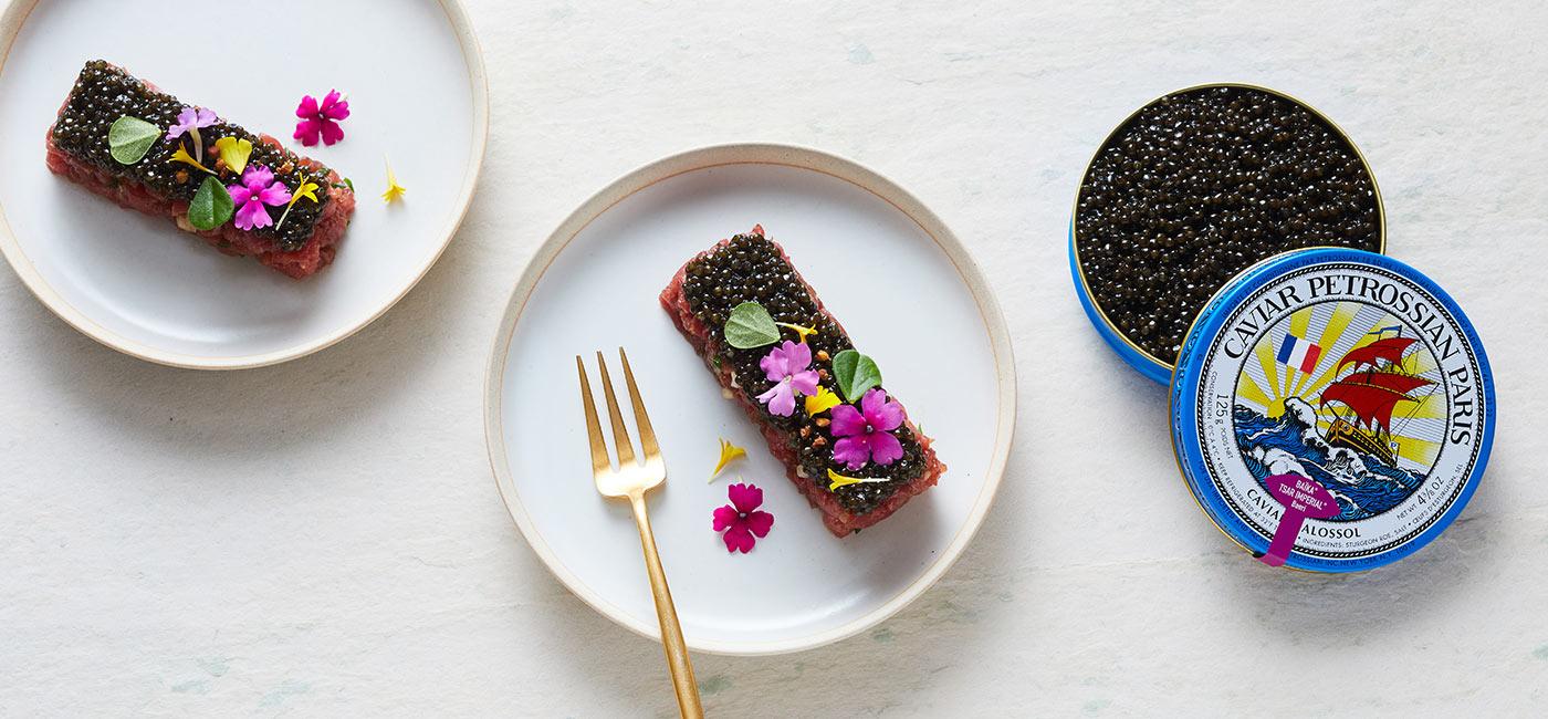 Beef Tartare with French Caviar & Hazelnut Oil