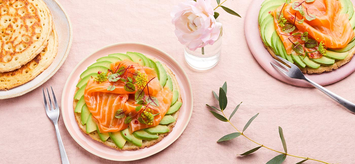 Avocado toast with salmon