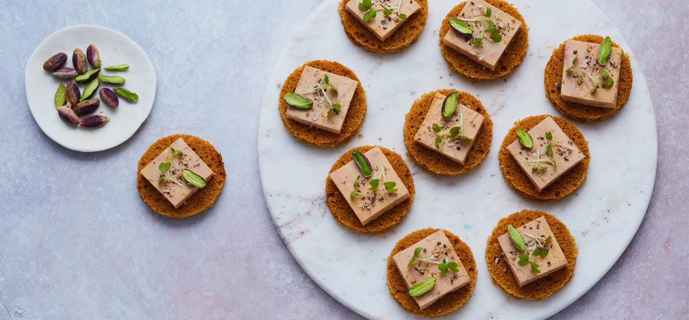 Foie Gras, Pistachio & Gingerbread Slices