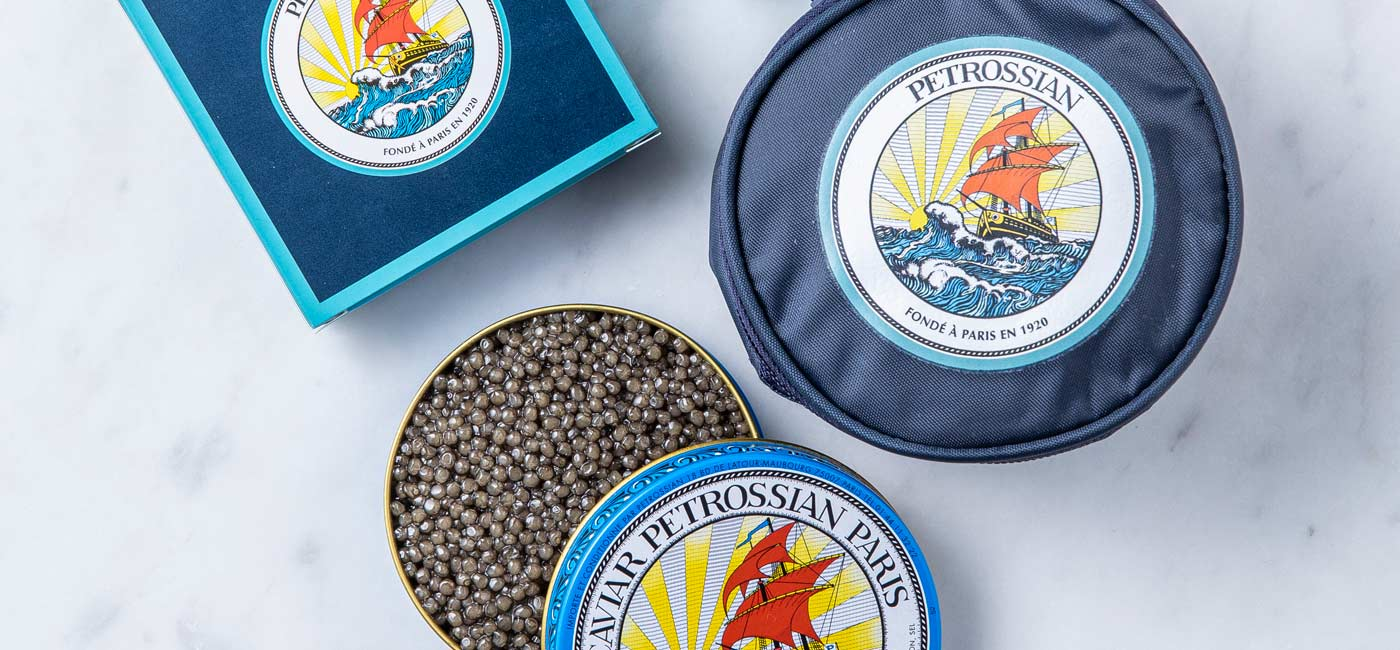 At what temperature should caviar be served?