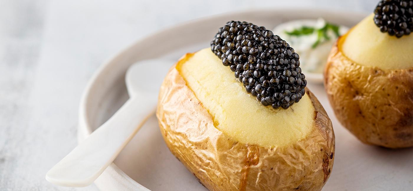 Pomme de terre et Caviar Alverta