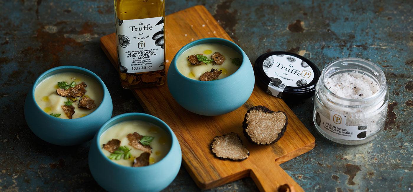 Cream of Truffled Parsnip Soup in Mini Verrines